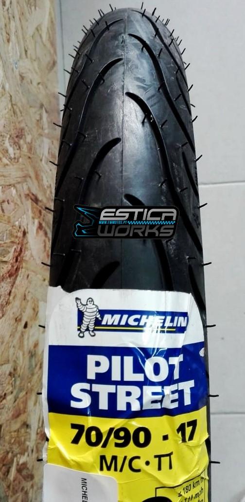 Pneu Frente-Trás Michelin Pilot Street 70-90-17 M-C