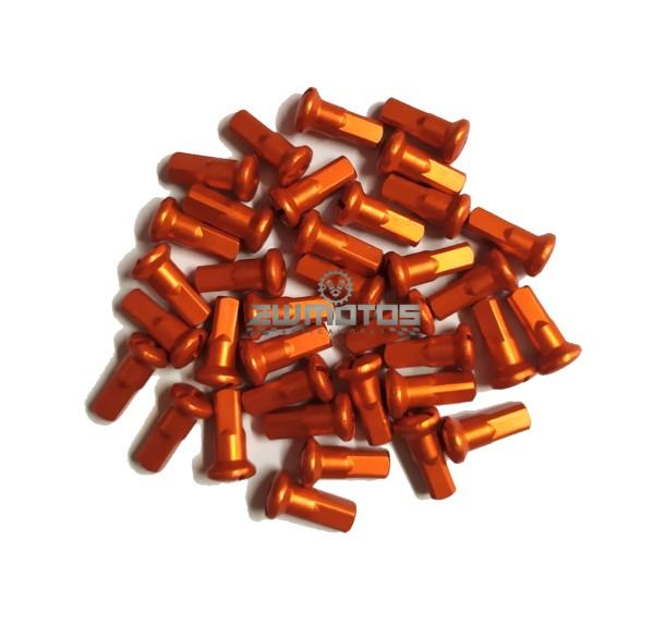 Cabeças Raios Alumínio Laranja 3.5MM – 36 Unidades