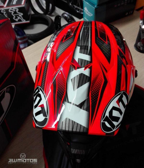 Capacete KYT Cross Over Power Black – Red (3)