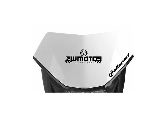 Placa de número removível para farol Halo – Branco