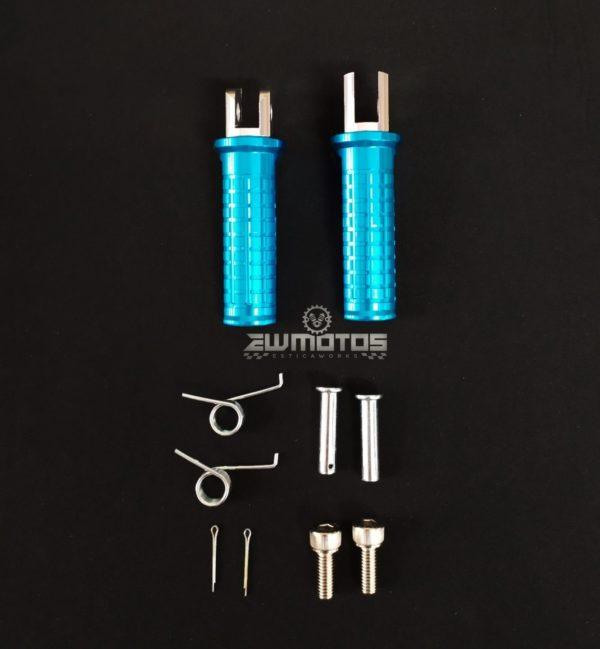 Pousa Pés Cortado Aluminio Azul