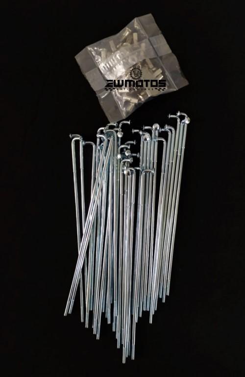 Jogo de raios com cabeças 155 x 3 mm (Zona da curva reforçada)