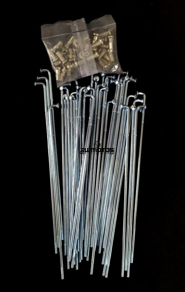 Jogo de raios com cabeças 180 x 3 mm (Zona da curva reforçada)