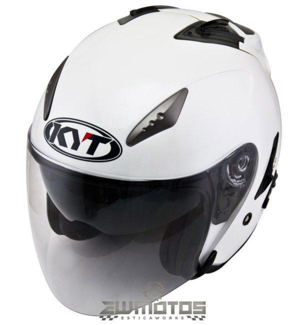 Kyt Hellcat Plain Pearl White – XL