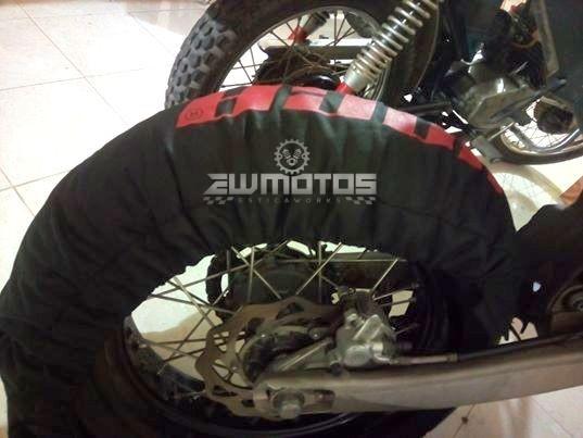 Mantas aquecedoras para pneus Supermoto-Superbike (1)