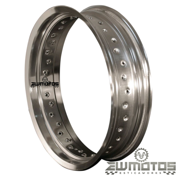 Aro aluminio italy cinza 3.50×17 36f