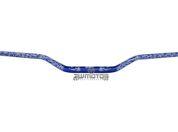 Guiador Fatbar Caveiras Azul