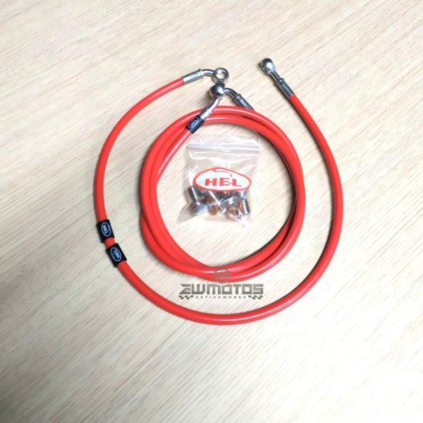 Kit Malha Aço Hel Yamaha DTR125 – Vermelho