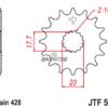 Pinhão Ataque JT428-16 Dentes Yamaha DTR 125