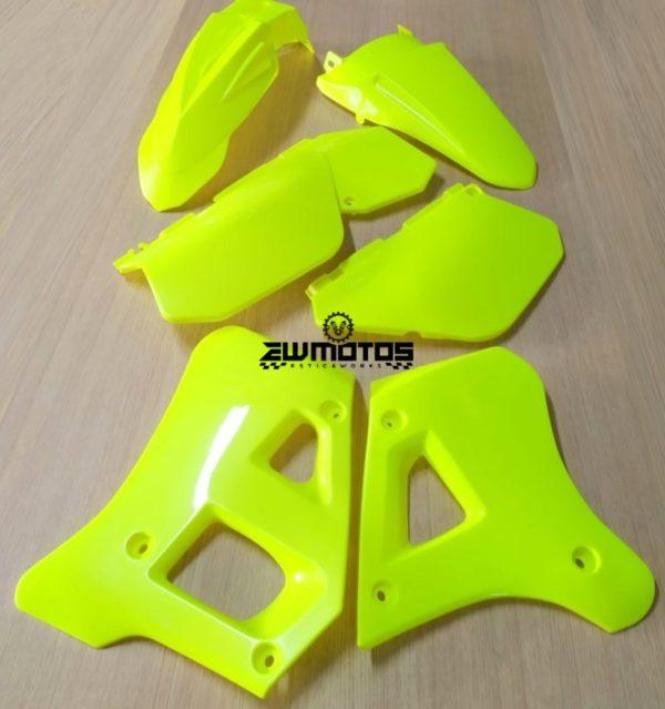 Kit Plásticos Amarelo Fluorescente Yamaha DTR 125