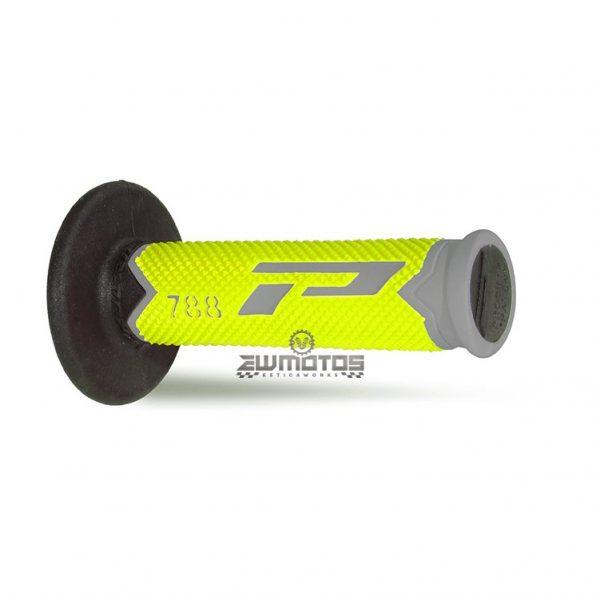 Punhos Progrip 788 Cinza-Amarelo Fluorescente- Preto
