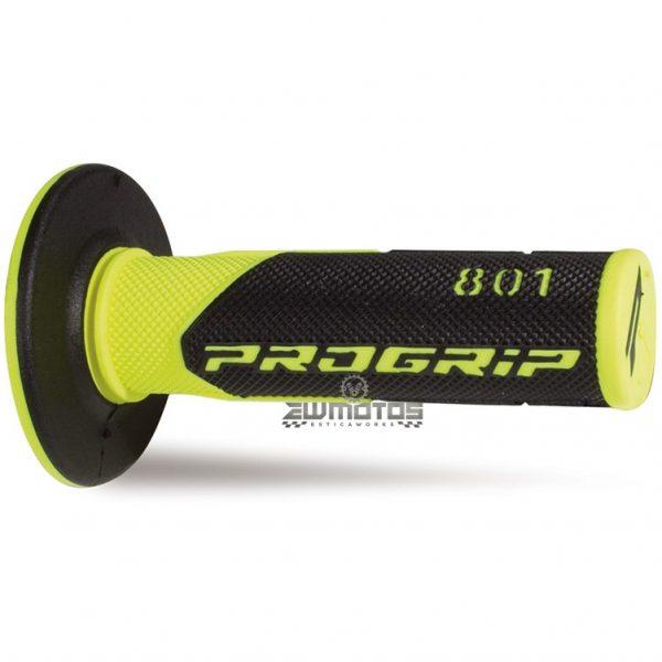 Punhos Progrip 801 MX Amarelo Fluorescente – Preto