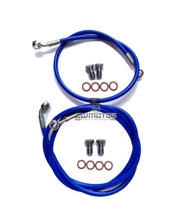 Kit Malha Aço Hel Yamaha DTR125 – Azul