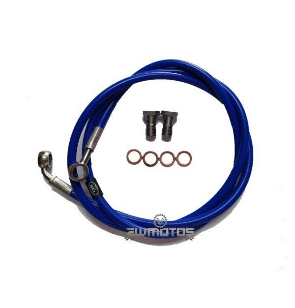 Malha Aço Frente Hel Yamaha DTR125 – Azul