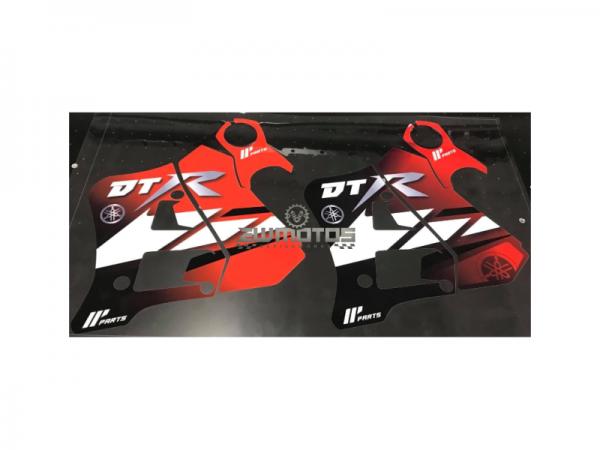 Kit Autocolantes Yamaha DTR 125 Vermelho-Preto-Branco