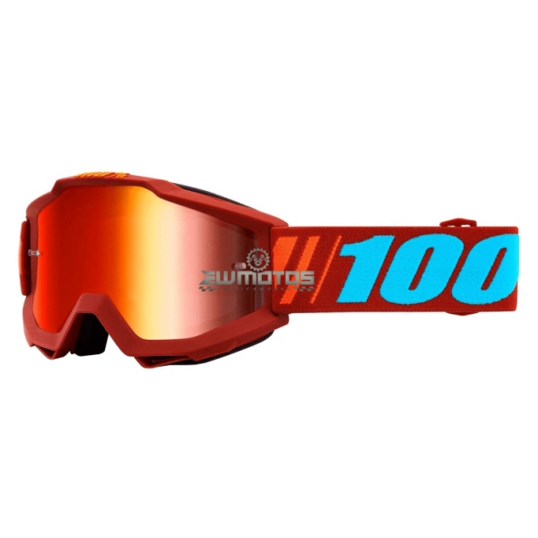 Óculos 100% Accuri Dauphine Vermelho- Lente Espelhada
