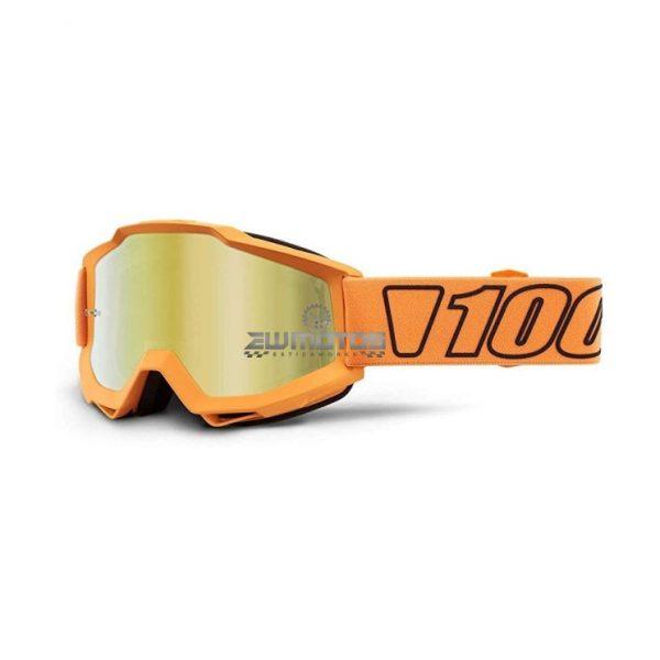 Óculos 100% Accuri Luminari Gold- Lente Espelhada