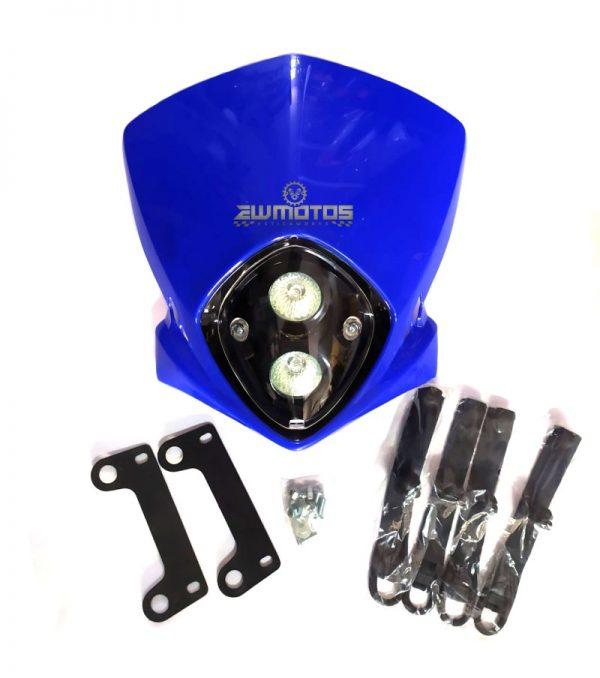 Farol Universal Duplo Halogéneo Azul MRS. Blitz (2)