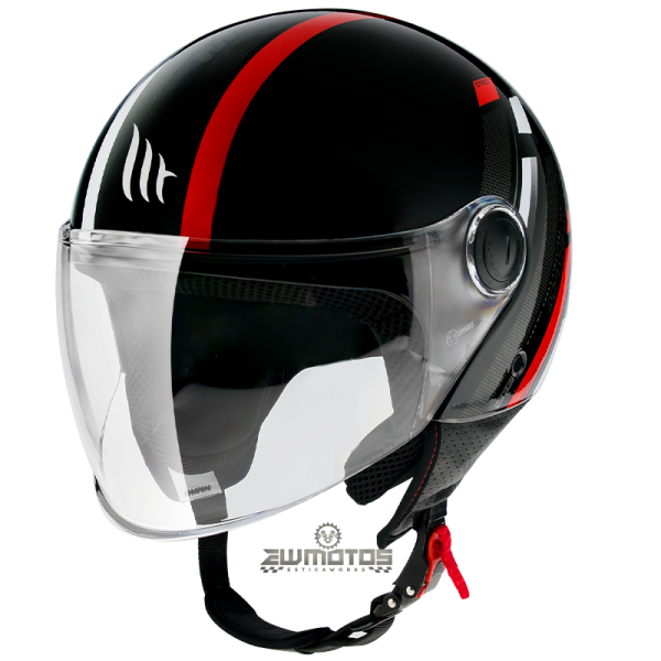 Capacete MT Street Scope D5 Gloss Red (3)