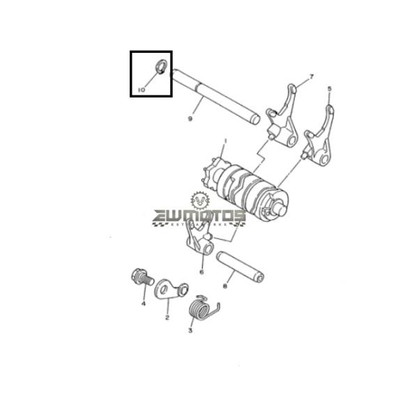 Anilha Veio Seletor Caixa Velocidades Yam DTR 125