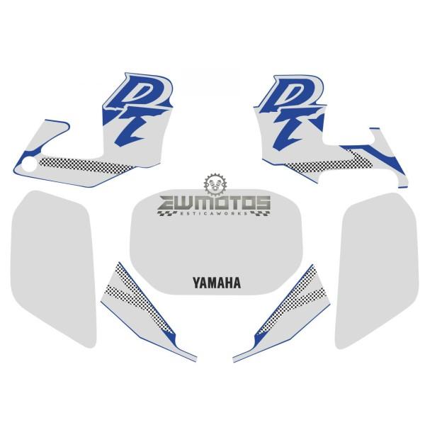 Kit Autocolantes Yamaha DTR 125 – Azul