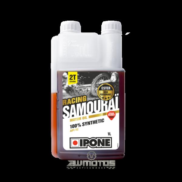 Óleo IPONE SAMOURAI RACING 2T, 100% Sintético 1 Litro – Morango