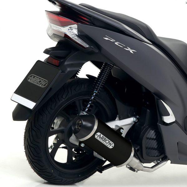 Ponteira Alumínio Preto Urban Honda PCX 125 2018-2019 – ARROW (2)