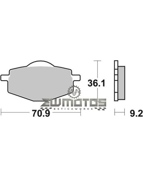Pastilhas Travão 107HF Yamaha DTR125 – SBS (1)