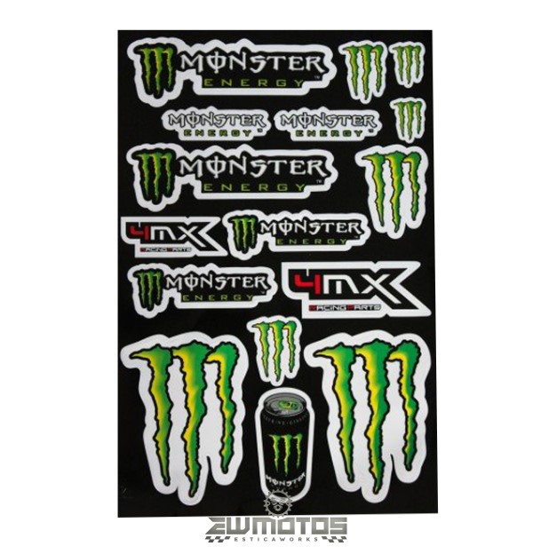 Autocolantes Monster Folha A3