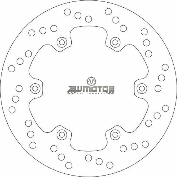 Disco Travão Trás Yamaha DTR 125 – SBS (1)