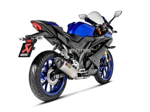 Escape Yamaha YZF-R 125 2019-2020 MT-125 2020 Titânio – AKRAPOVIC (3)